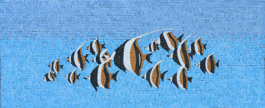 Mosaic Art  - Triangular Butterflyfish