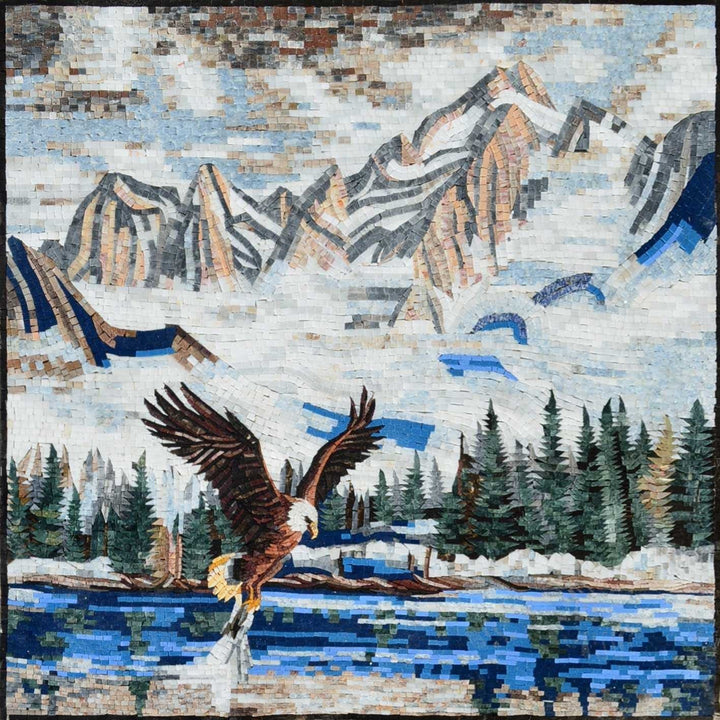 Mosaic Art for Sale - Rising Eagle