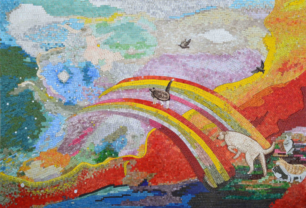 Fantasy Mosaic Art- The Rainbow Bridge