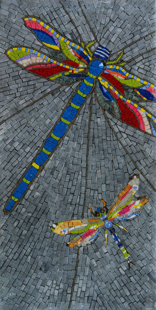 Mosaic Patterns Dragonflies Birds And Butterflies Mozaico