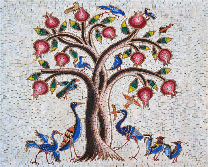 Mosaic Designs - Flowering Tree