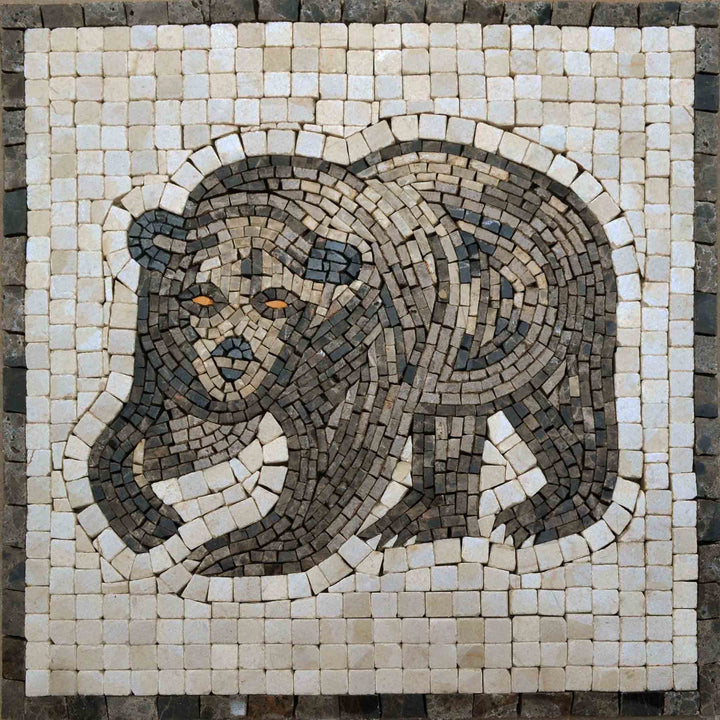 Mosaic Designs - Brown Illustrated Bear