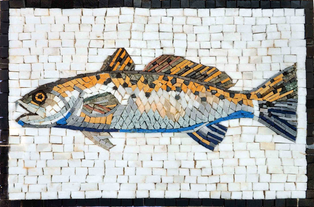 Mosaic Art - Yellow Jumping Mullet