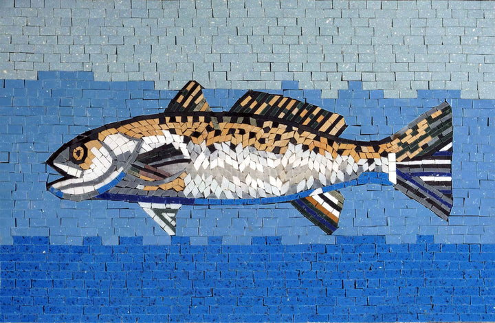 Mosaic Art - Mullet Fish