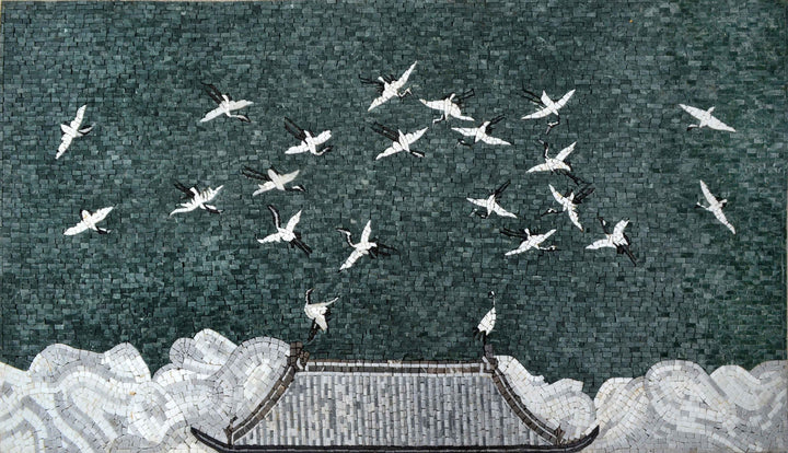 Mosaic Wall Art - The Secret Life of Pigeons