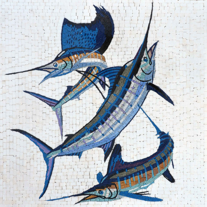 Mosaic Art - Group of Sworfish