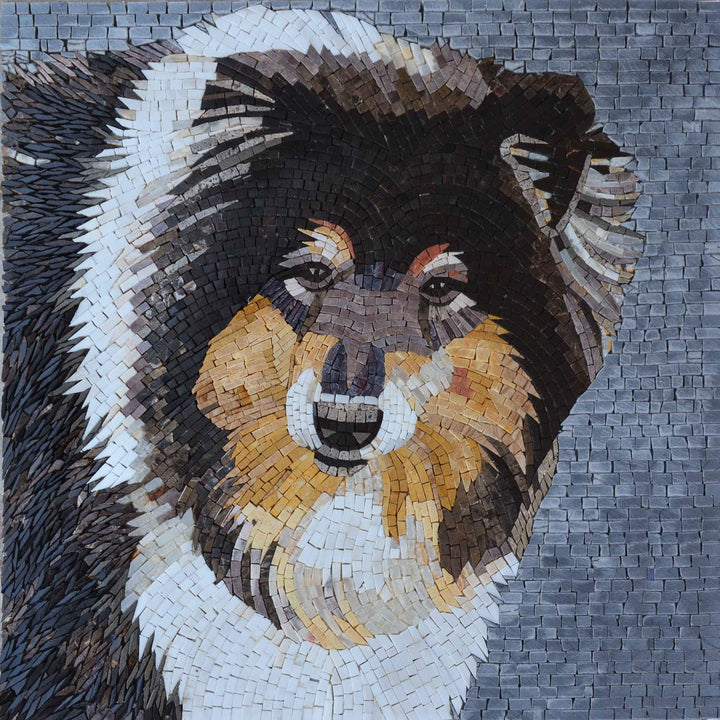 Mosaic Artwork - Border Collie Dog