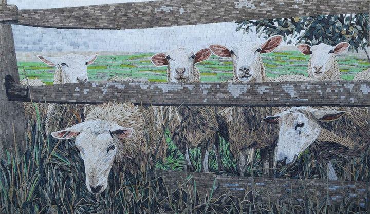 Grazing Sheep Mosaic