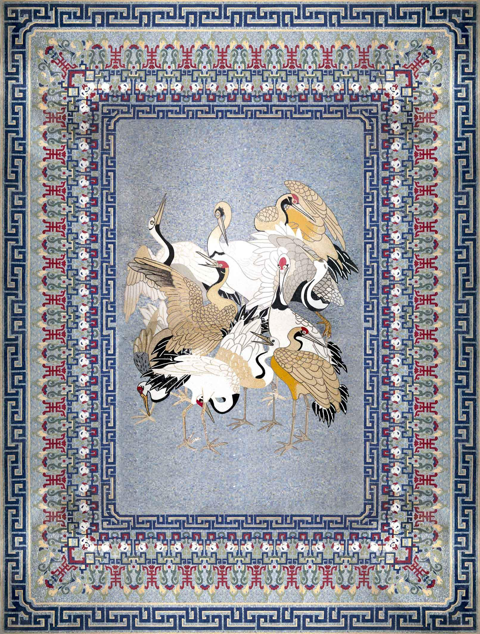 Marble Mosaic Rug Rug Of Birds Pic