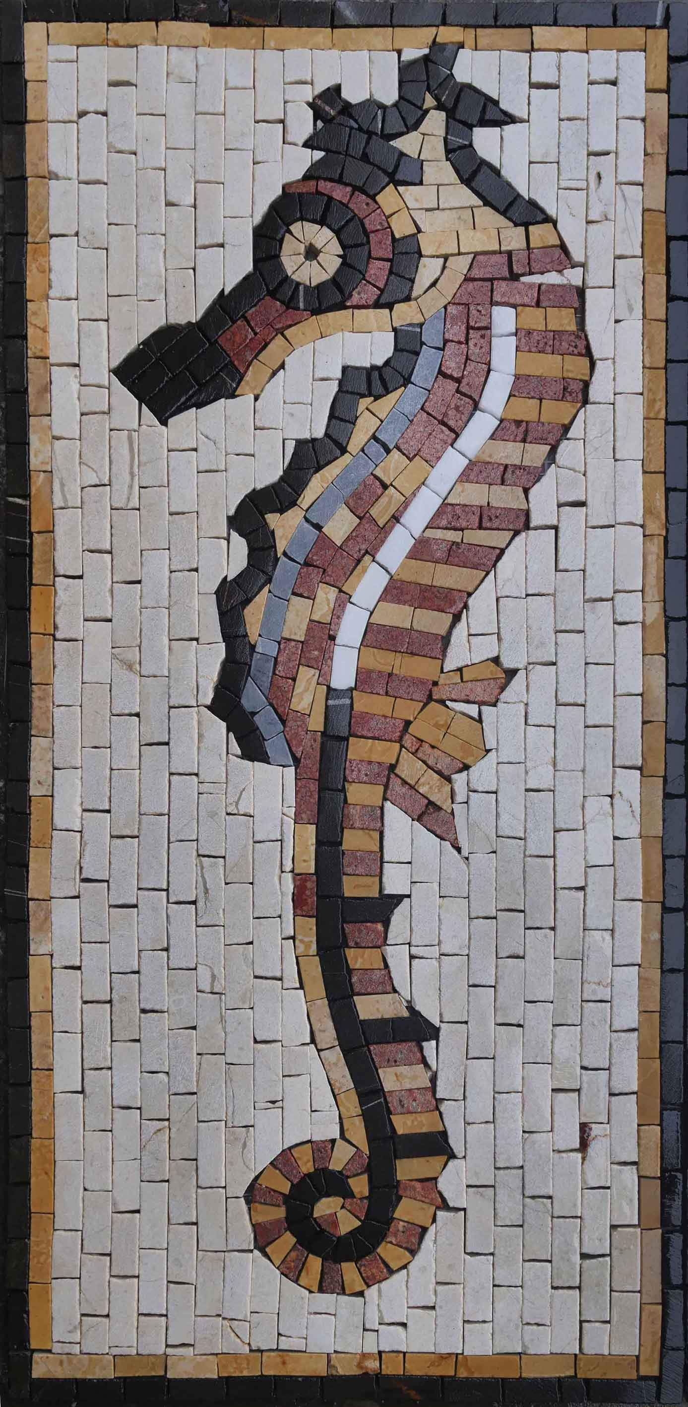 Marble Seahorse Mosaic Ambient Seahorse Pic