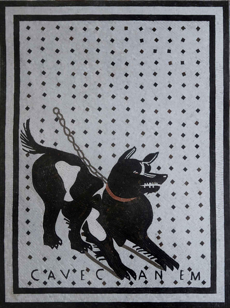 Beware the Dog Mosaic Wall Art