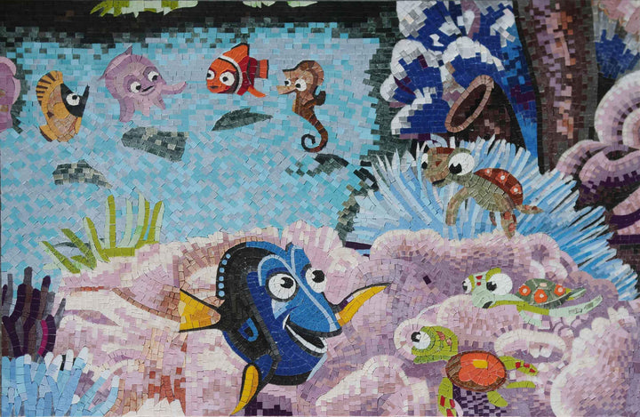 Nemo and Dori Fish Mosaic