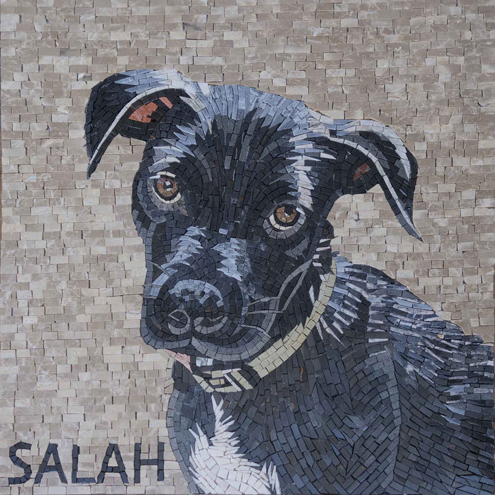 Patterdale Terrier Dog Mosaic Mural