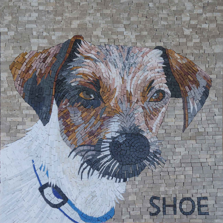 Jack Russell Dog Mosaic Mural