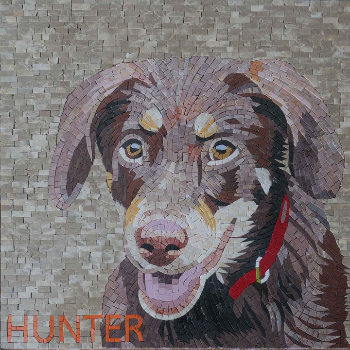 Hunter Dog Mosaic Portrait