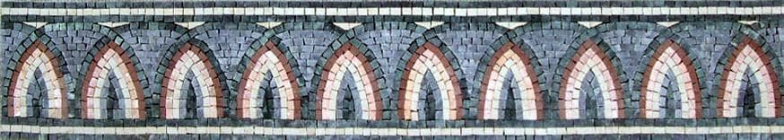 Border Mosaic Tiles With a Pattern of Arches