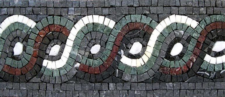 Geometric Rope Mosaic Border