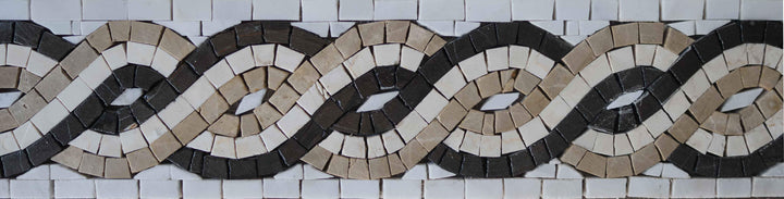 The Rope VI Marble Mosaic Border