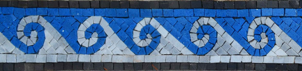Greek Waves Mosaic Border