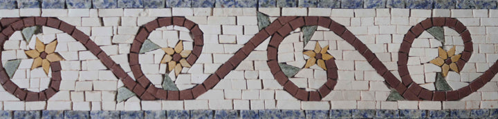 Floral Marble Border Mosaic