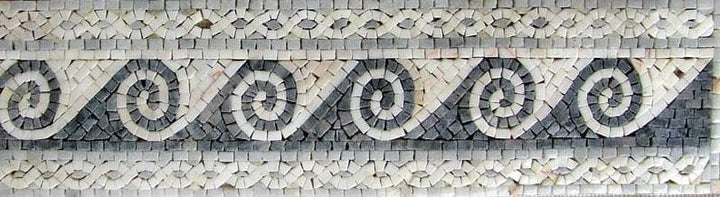 Waves Marble Mosaic Border
