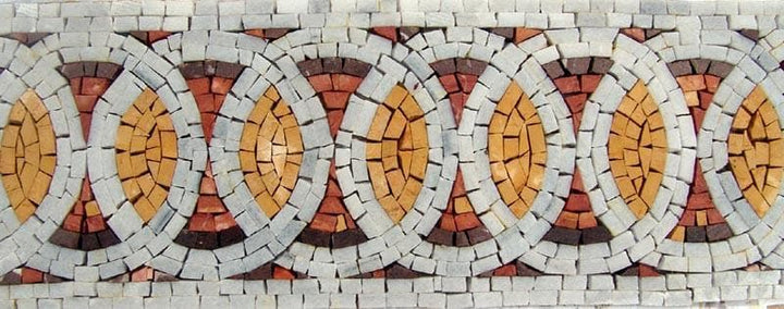 Mosaic Border - Contemporary Tile Art