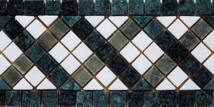 Mosaic Border - Geometric Square