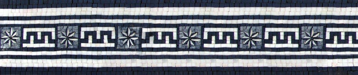 Mosaic Border - Greek Pattern