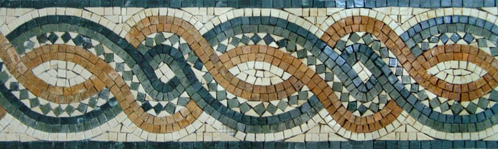 Mosaic Celtic Rope Border