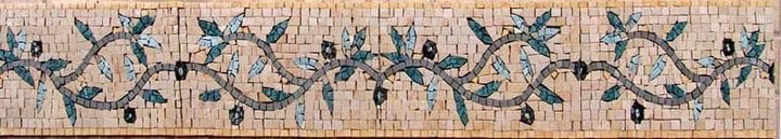 Olive Twigs Border Mosaic Art