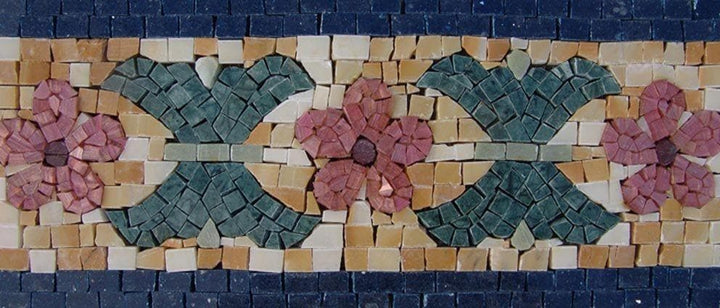 Mosaic Border - Floral Marble