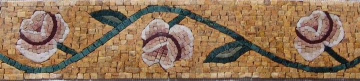 Mosaic Artwork - Floral Marble