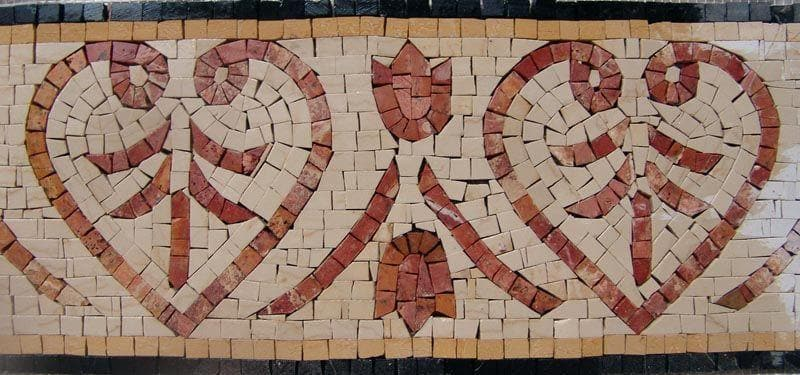 Hearts Pattern Border Mosaic