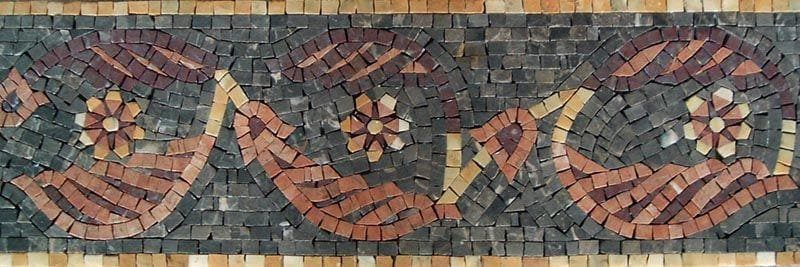 Mosaic Art Border - Catalan