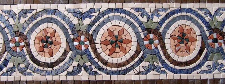 Mosaic Border Art -Japanese Design