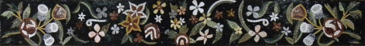 Mosaic Decorative Tiles - Flower Motif