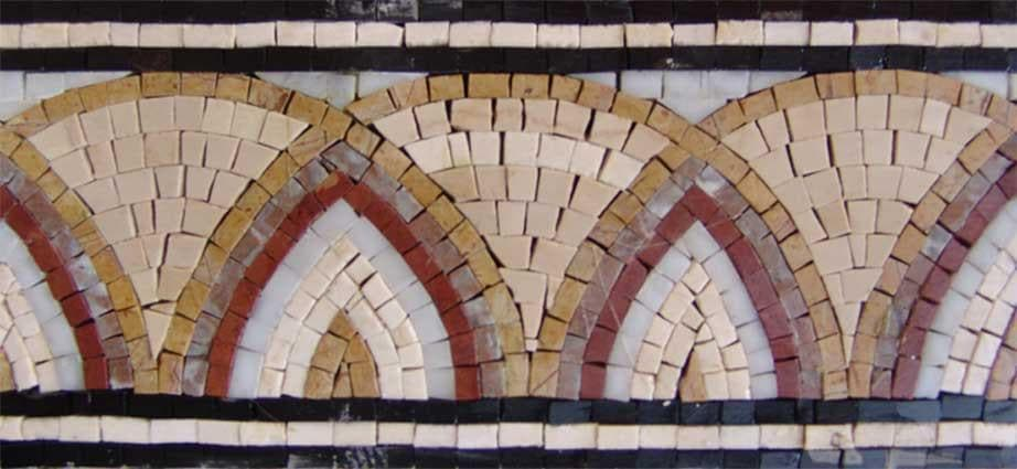 Marble Mosaic Border - Arc Patterns