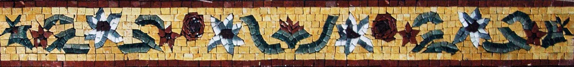 Assorted Floral Border Mosaic