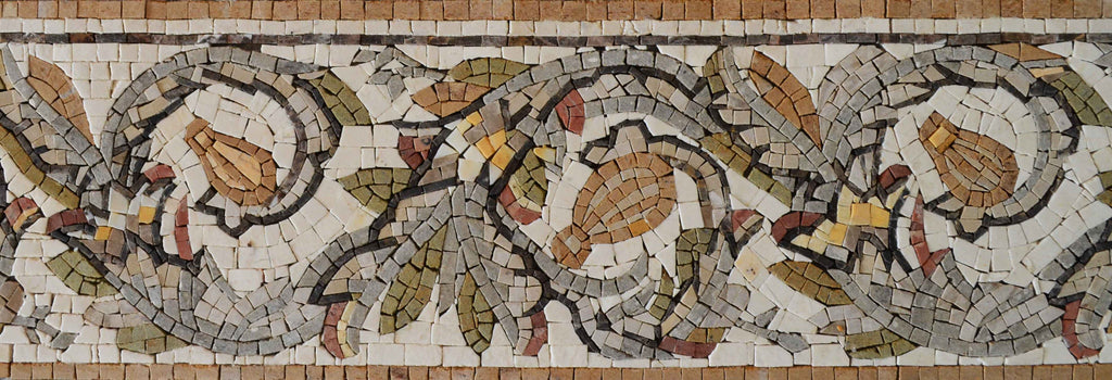 Italian Autumn Aura Mosaic Border