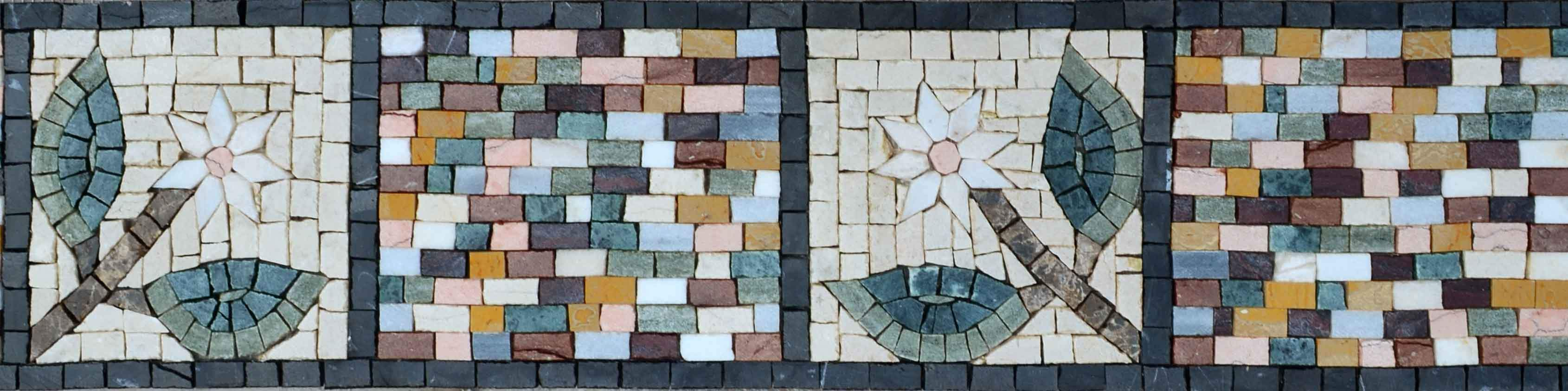 Mosaic Border - Abstract Daisies