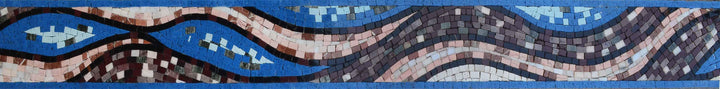 Mosaic Border - Abstract Wave