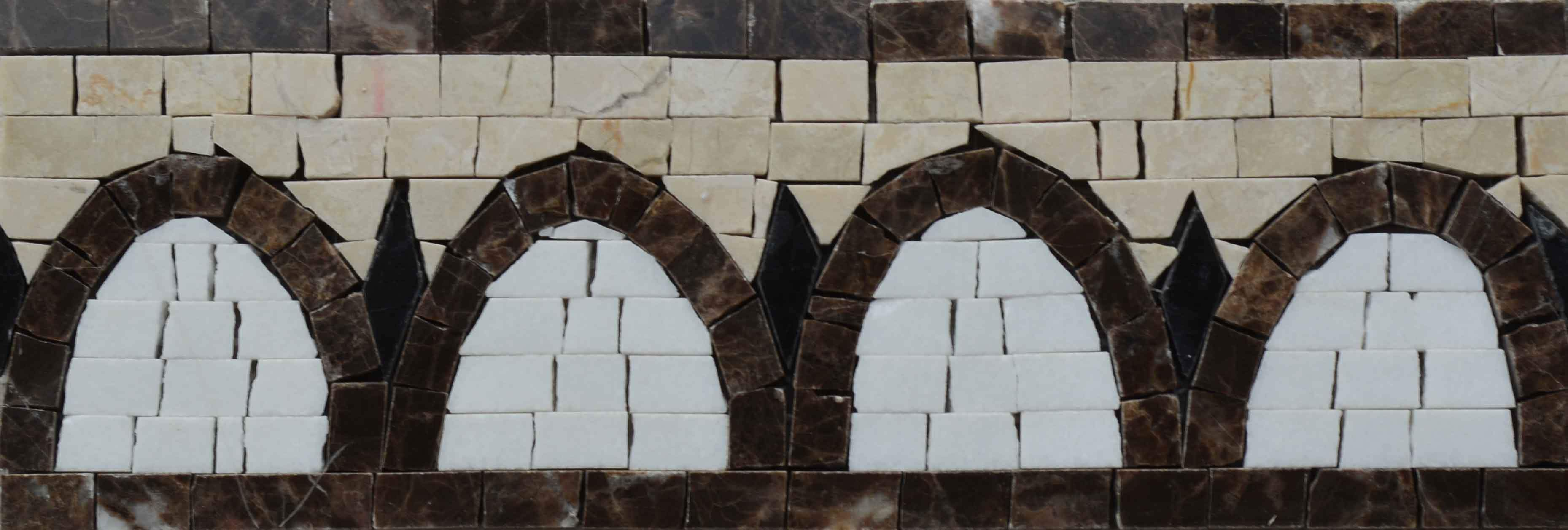 Mosaic Border - Abstract Browns