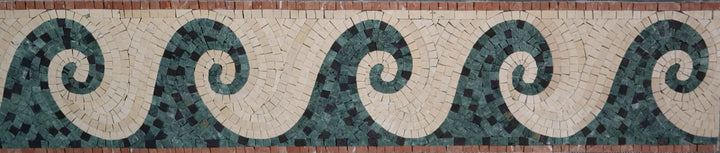 Ripple - Waves Mosaic Border
