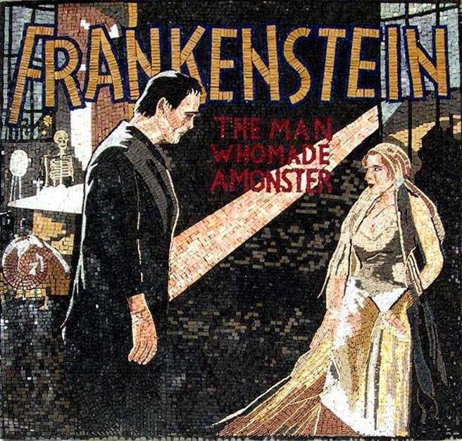 Frankenstein Custom Hand Made Mosaic