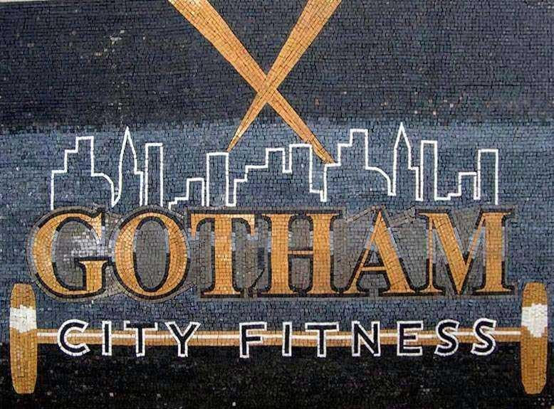 Custom Marble Mosaic Fitness Sign Pic
