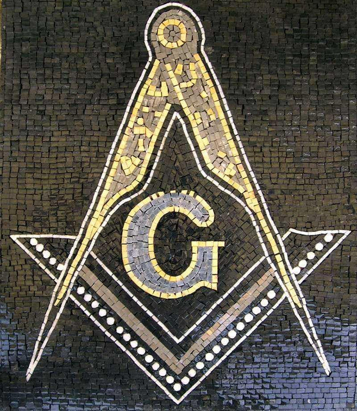 Custom Mosaic The Mason Symbol