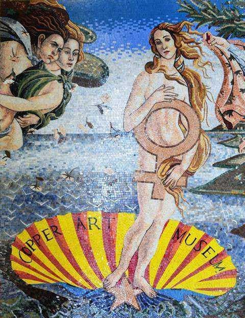 "Sandro Botticelli  Venus "" - Mosaic Art Reproduction """