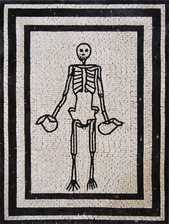 Skeleton Body Custom Marble Mosaic