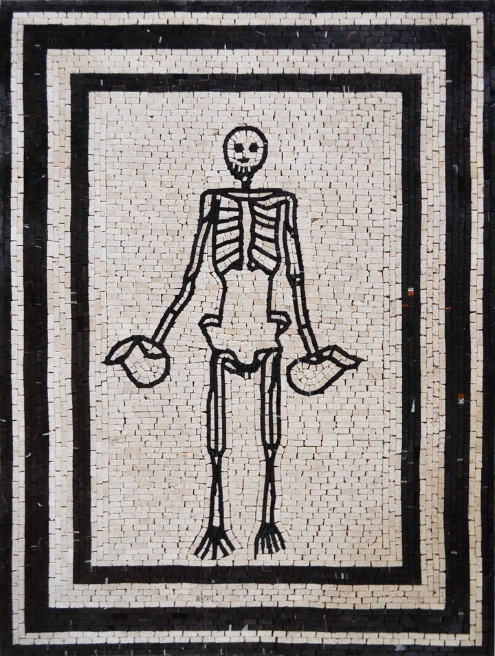 Skeleton Body Custom Mosaic Art