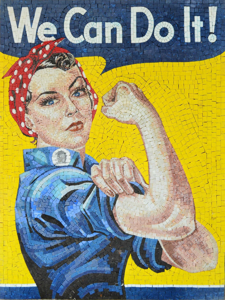 Rosie the Riveter Mosaic Artwork